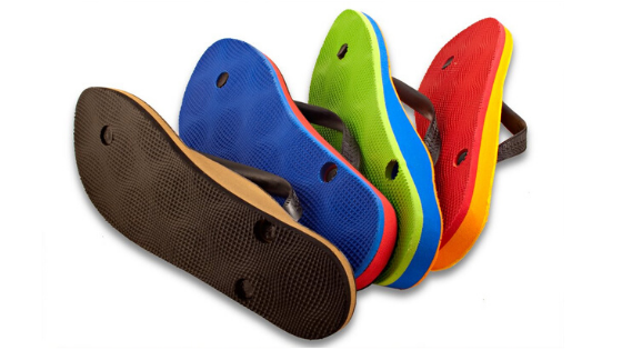 Flip flops that are custom made for your feet